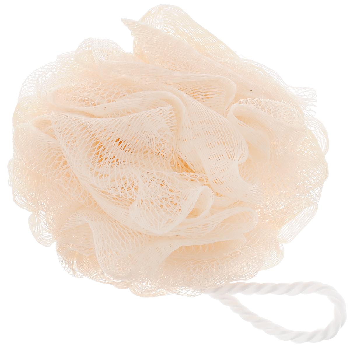 Мочалка Ikeep Роза, цвет: персиковый, диаметр 13 смТП101_персиковыйМочалка Ikeep Роза, выполненная из полиэстера, предназначена для мягкого очищения кожи. Она станет незаменимым аксессуаром ванной комнаты. Мочалка отлично пенится, обладает легким пилинговым и массажным эффектом, идеально подходит для нежной и чувствительной кожи. На мочалке имеется удобная петля для подвешивания. Диаметр: 13 см.