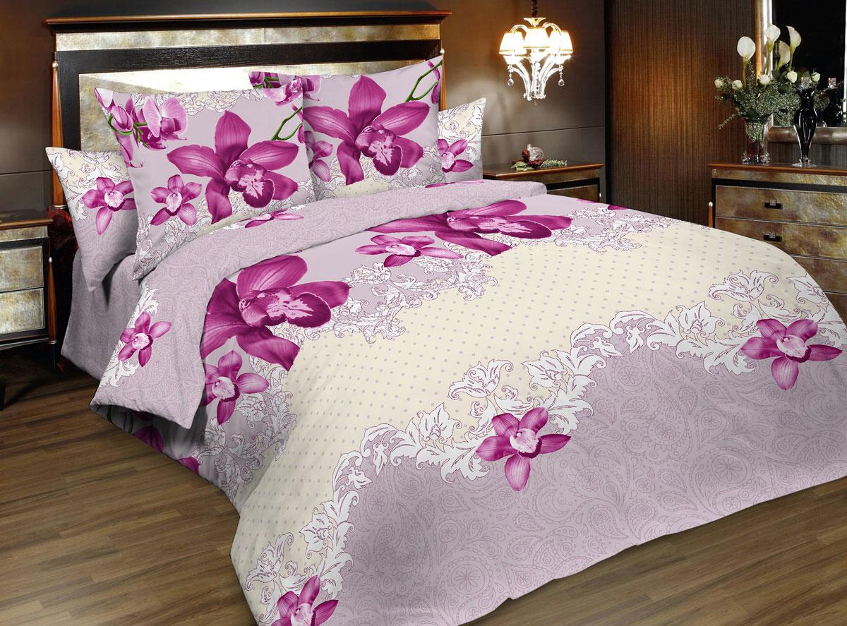 Комплект белья Seta Valery, 1,5-спальный, наволочки 50x70, цвет: розовый015835233