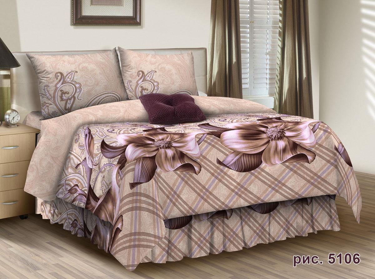 Комплект белья Seta Safra, 1,5-спальный, наволочки 50x70, цвет: бежевый015812238
