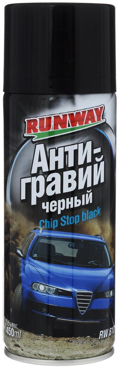 Антигравий Runway, цвет: черный, 450 млRW6101Антигравий Runway изготовлен на основе высокопрочного полимера для защиты нижних деталей кузова автомобиля, таких как пороги кузова, арки колес, нижние панели дверей, сильно подверженных абразивному воздействию камней и песка. Создает ударопрочное, химически стойкое покрытие, препятствующее возникновению коррозии и ржавчины. Продлевает срок службы кузова. Товар сертифицирован.