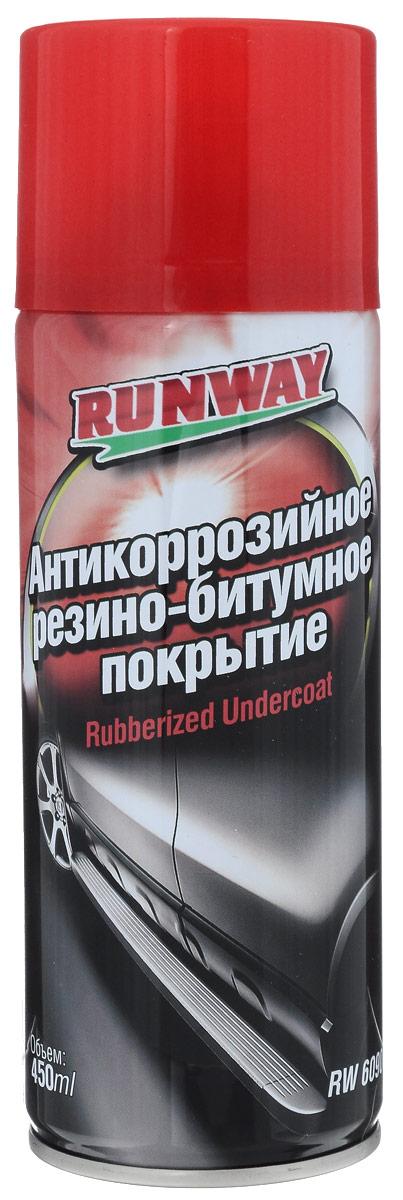 Антикоррозийное резино-битумное покрытие Runway, 450 мл