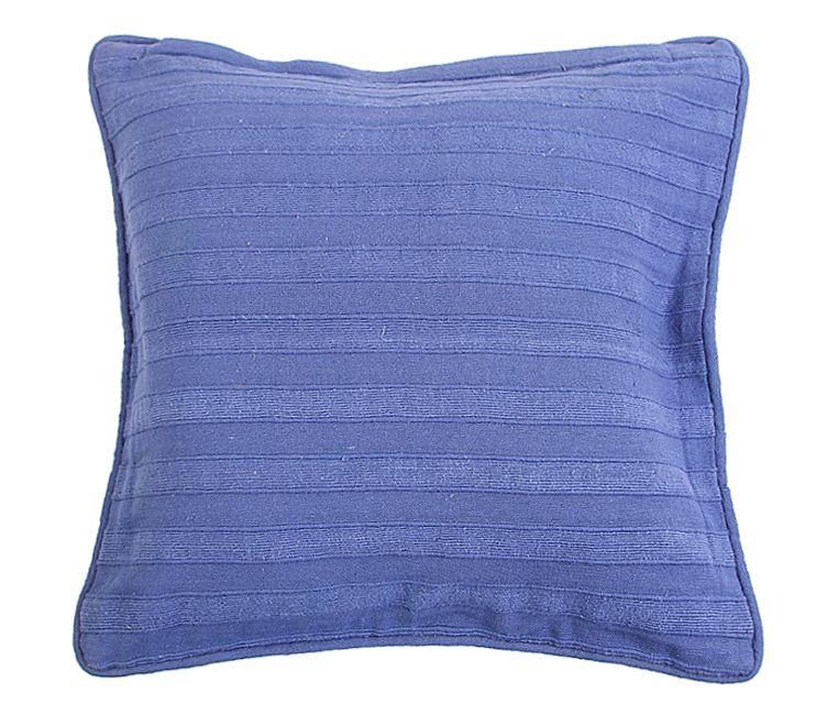 Наволочка декоративная Arloni, самотканная, цвет: синий, 40 х 40 см. Нв/118/1Нв/118/1Наволочка самотканная 40*40