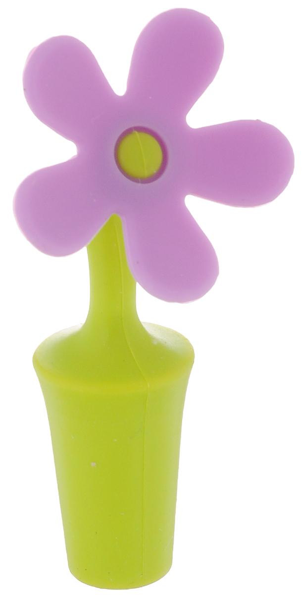 Пробка для бутылки Menu Цветик, цвет: салатовый, сиреневыйZVK-01_салатовый, сиреневый, круглые лепесткиПробка для бутылки Menu Цветик, выполненная из силикона, предназначена для открытых бутылок в целях предотвращения окисления и порчи напитков. Перед применением промойте пробку в теплой воде с использованием щадящих моющих средств. Рекомендуется мыть вручную. Длина пробки: 9,5 см.
