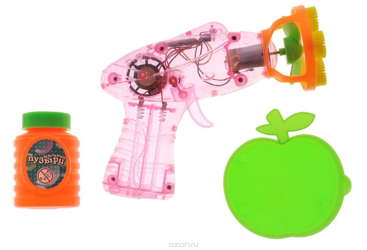 Веселая затея Набор для пускания мыльных пузырей Волшебное облако цвет розовый оранжевый салатовый1504-0325_розовый, оранжевый, салатовыйВыдувание мыльных пузырей - это веселое развлечение для детей и взрослых. А с игрушкой Веселая затея Волшебное облако вас ждет просто гигантская очередь мыльных пузырей! Для этого налейте мыльный раствор в крышку от флакончика, опустите в нее носик игрушки, поднимите в воздух и нажмите на курок. Вы увидите невероятное количество пузырей. Сопровождаться это будет световыми и звуковыми эффектами. Устройте малышу настоящее мыльное шоу! В комплекте для выдувания мыльных пузырей: пластиковый пистолет, пузырек с мыльной жидкостью, тарелочка. Для работы игрушки необходимы 2 батарейки типа АА (не входят в комплект).