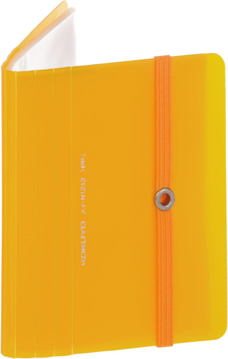 Kokuyo Визитница Novita на 60 визиток цвет желтый990745Визитница Kokuyo Novita станет надежным спутником для любого современного делового человека, ценящего стиль и качество. Визитница предназначена для хранения и транспортировки именных и банковских карт, визиток а также мелких документов. Обложка визитницы изготовлена из прочного пластика. Внутри располагается блок на 60 визиток. Визитница надежно сохранит ваши вещи и сбережет их от повреждений, пыли и влаги.