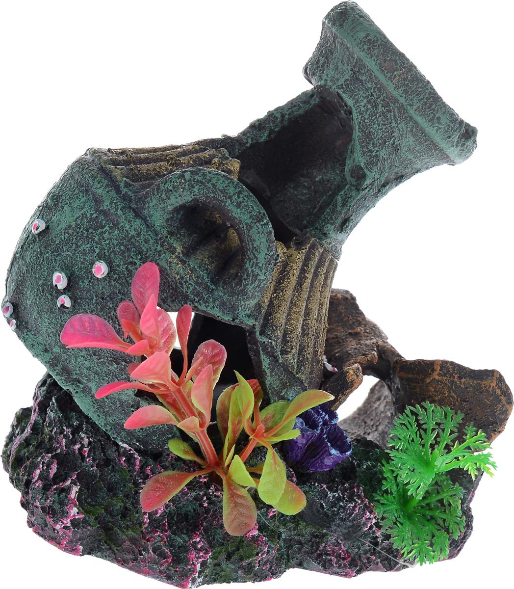Декорация для аквариума Barbus Амфора, 13,5 х 11,5 х 14 смDecor 057Декорация для аквариума Barbus Амфора, выполненная из высококачественного нетоксичного полирезина, станет прекрасным украшением вашего аквариума. Изделие отличается реалистичным исполнением с множеством мелких деталей и отверстий. Ведь многие обитатели аквариума используют декорации как укрытия, в которых они живут и размножаются. Декорация абсолютно безопасна, нейтральна к водному балансу, устойчива к истиранию краски, подходит как для пресноводного, так и для морского аквариума. Благодаря декорациям Barbus вы сможете смоделировать потрясающий пейзаж на дне вашего аквариума или террариума.