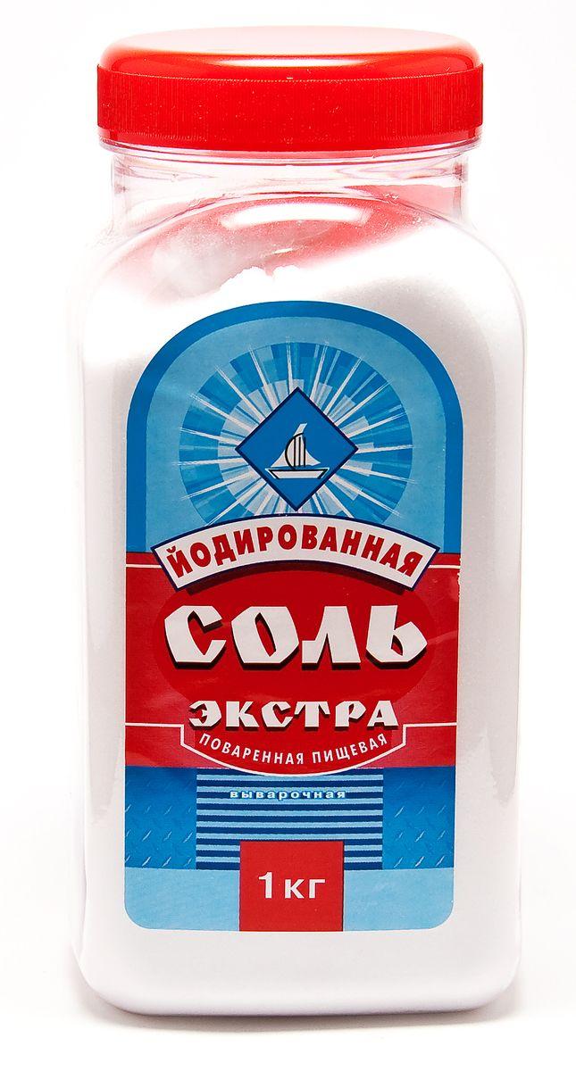 Salina соль экстра йодированная пэт-банка, 1 кг 1387