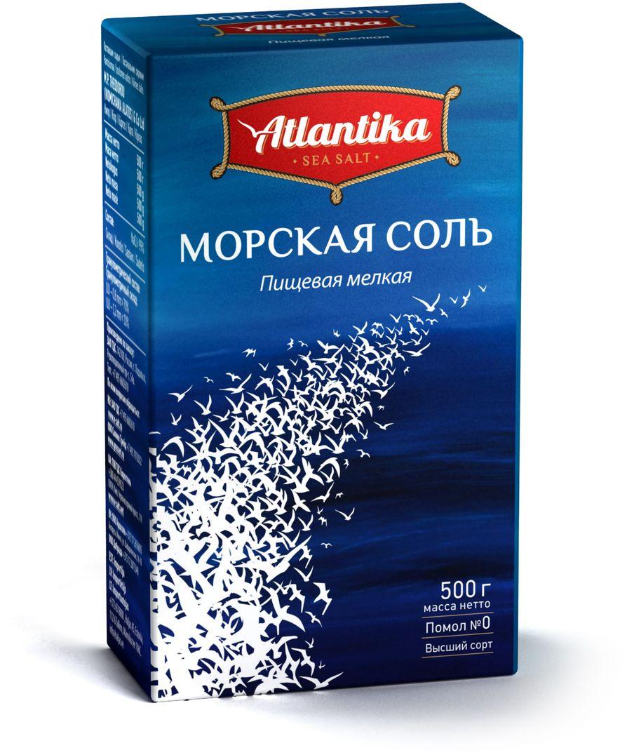 Атлантика соль морская мелкая в пачке, 500 г