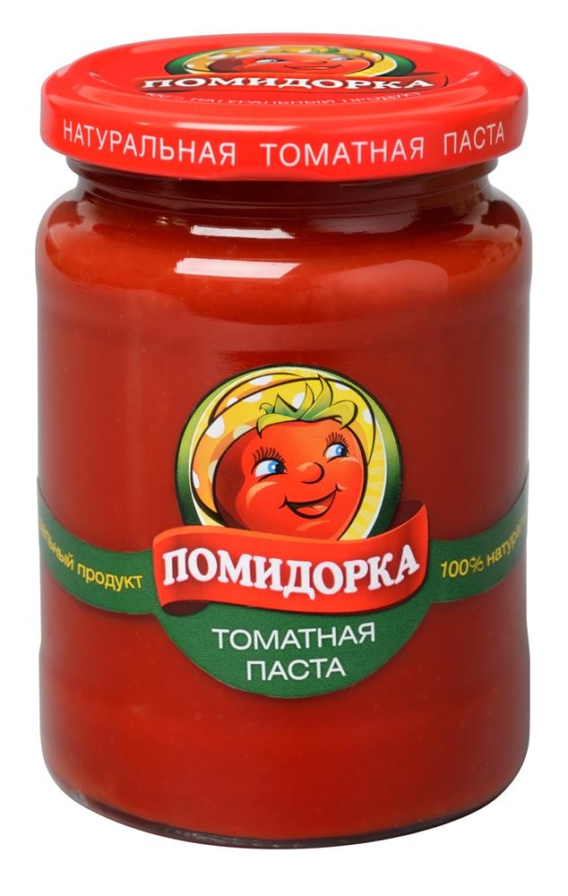 Помидорка томатная паста, 270 г2648Томатная паста Помидорка - гармоничный продукт с оригинальным, свежим вкусом, насыщенным цветом и ароматом. В ней отсутствуют искусственные пищевые добавки - это полностью натуральный продукт! Томатная паста Помидорка очень густая (содержит более 25% сухих веществ) и приготовлена только из помидоров.