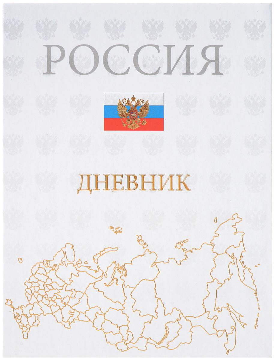 Апплика Дневник школьный Российская символика карта