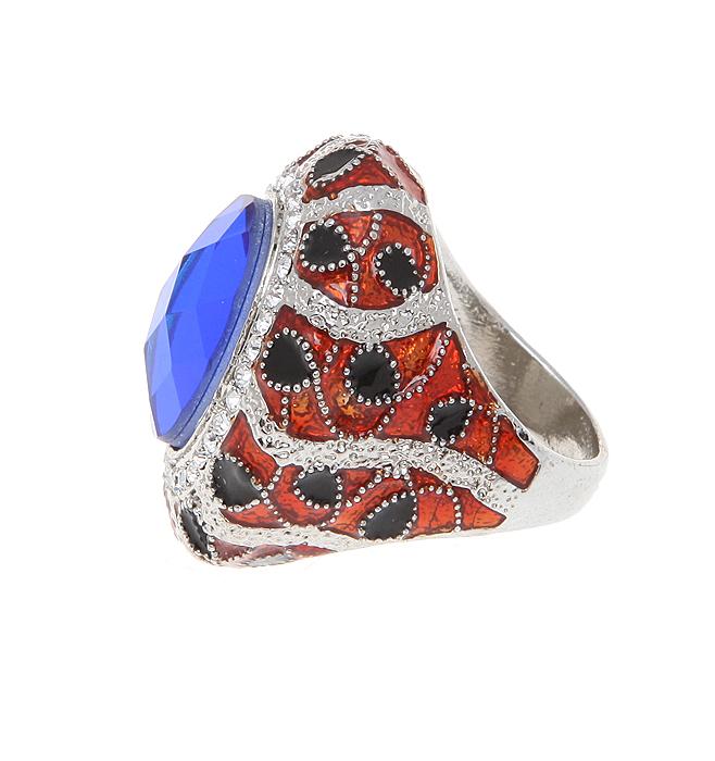 Кольцо коктейльное Лоренна от Arrina. Крупный кристалл синего цвета, прозрачные стразы, цветные эмали, бижутерный сплав серебряного тона. Гонконг, 2000-е гг.СБУ83130Шикарное коктейльное-кольцо Лоренна от Arrina. Крупный кристалл синего цвета, прозрачные стразы, цветные эмали, бижутерный сплав серебряного тона. Гонконг, 2000-е гг. Размер - 19 (по российским стандартам). Сохранность превосходная, изделие не было в использовании.