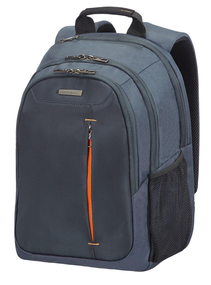 Рюкзак для ноутбука Samsonite, цвет: серый, 18 л, 29,5 х 19 х 43 см88U*08004Коллекция GUARDIT является идеальным решением для пользователей ноутбуков,объединяет в себе базовую функциональность с отличным внешним видом из полиэстера.Особенности коллекции: передний караман с внутренней организацией,умный карман, верхняя ручка с прокладкой из неопрена.