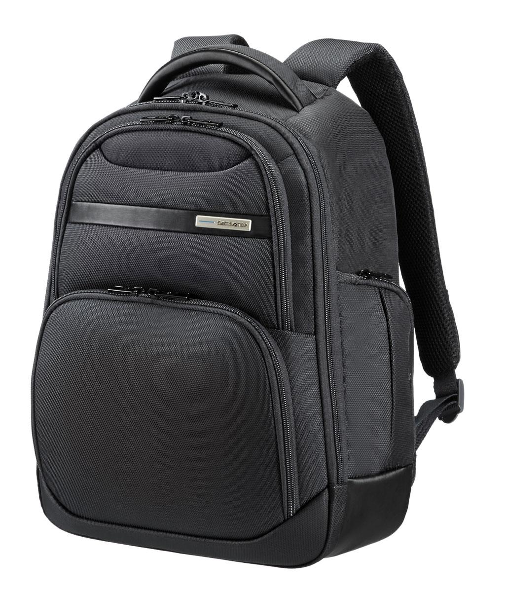 Рюкзак для ноутбука Samsonite, цвет: черный, 15 л, 31,5 х 17,5 х 42 см39V*09007Сочетание прочного полиэстера и элементов полиуретана с отполированной металлической фурнитурой;потайной карман для хранения; удобные и хорошо организованные модели рюкзаков