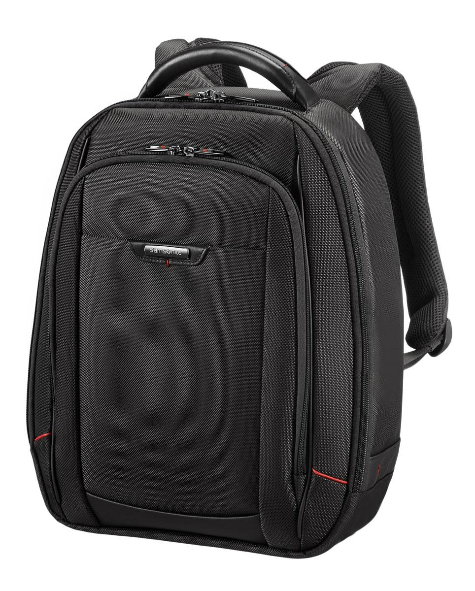 Рюкзак для ноутбука Samsonite, цвет: черный, 18 л, 34 х 17 х 46 см35V*09006Армированный нейлон из натуральной кожи наппа,специальные смягчённые отделения для ноутбука и планшета