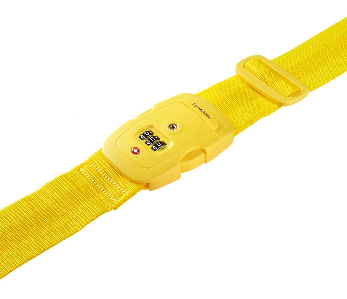 Ремень багажный Samsonite, цвет: желтый. U23*06009U23*06009