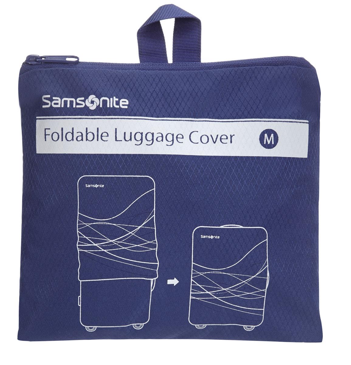 Чехол для чемодана Samsonite, цвет: синий, 65-75 см. Размер M/L.U23*11211U23*11211Созданы для того,чтобы облегчить идентификацию и обеспечить безопасность багажа