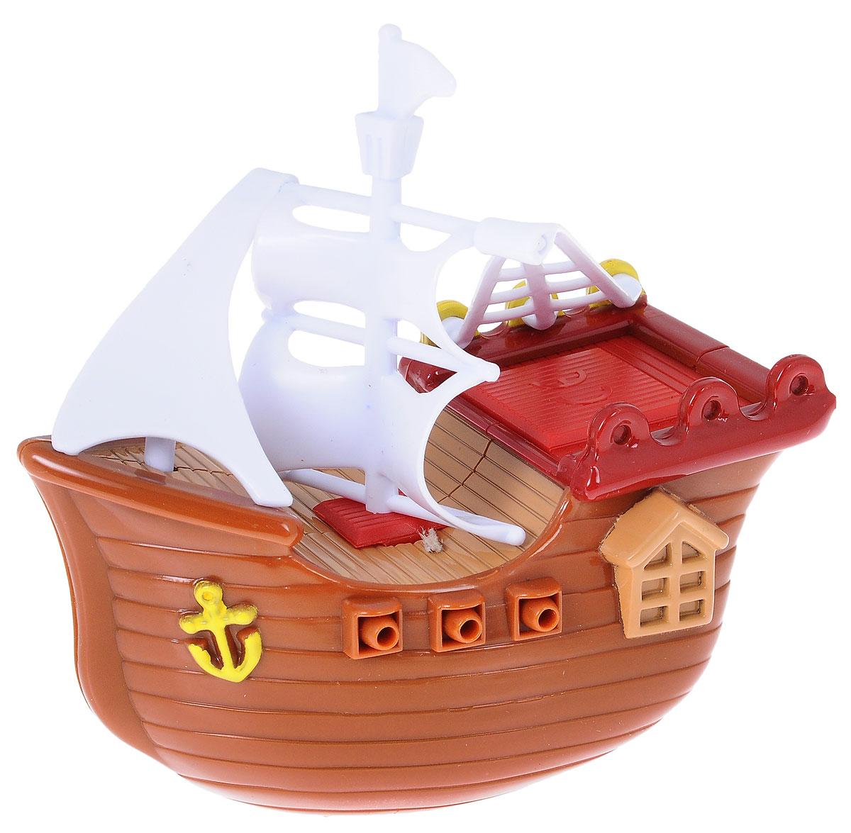 Navystar Игрушка для ванной Фрегат цвет коричневый63985-1-B_коричневыйИгрушка для ванной Navystar Фрегат обрадует вашего малыша во время купания и сделает этот порой нелегкий процесс приятным и веселым. Игрушка выполнена в виде деревянного фрегата с парусами и пушками. С помощью встроенного ключика малыш сможет запустить вращение винта, и кораблик начнет плавать. Игрушка для ванной Navystar Фрегат не только развеселит вашего малыша, но и поможет развить мелкую моторику.