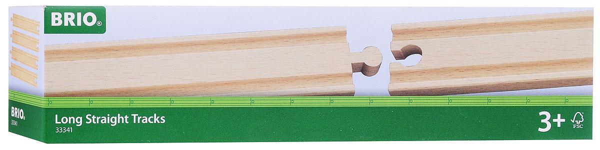 Brio Рельсы прямые длинные33341Игровой набор Рельсы прямые длинные предназначен для машинок и паровозиков Brio. Он включает в себя четыре элемента полотна железной дороги, выполненных из неокрашенного дерева. Железные дороги позволяют ребенку не только получать удовольствие от игры, но и развивать пространственное воображение, мелкую моторику и координацию движений. Набор совместим со всеми железными дорогами и паровозиками Brio. Ваш малыш часами будет играть с набором, придумывая разные истории. Машинки и паровозики в комплект не входят.