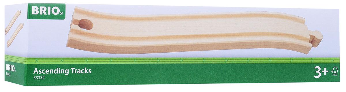 Brio Рельсы восходящие33332Игровой набор Рельсы восходящие предназначен для машинок и паровозиков Brio. Он включает в себя два изогнутых элемента полотна железной дороги, выполненных из неокрашенного дерева. Железные дороги позволяют ребенку не только получать удовольствие от игры, но и развивать пространственное воображение, мелкую моторику и координацию движений. Набор совместим со всеми железными дорогами и паровозиками Brio. Ваш малыш часами будет играть с набором, придумывая разные истории. Машинки и паровозики в комплект не входят.