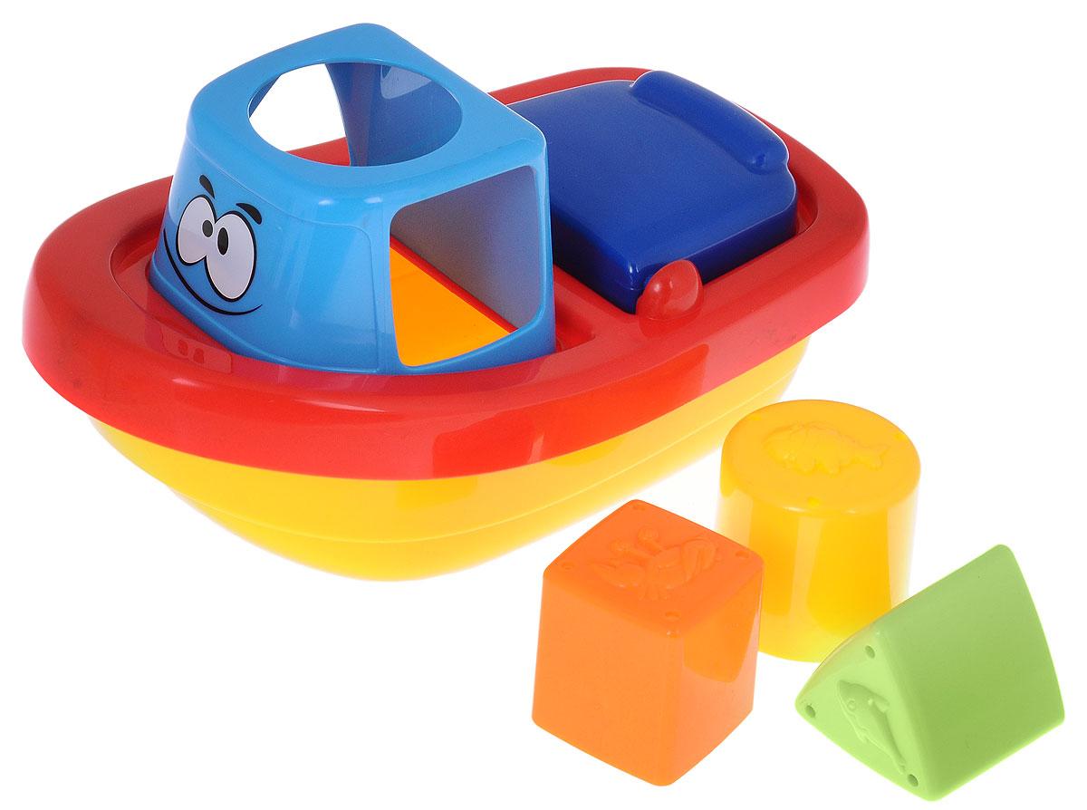 Navystar Игрушка для ванной Пароходик-сортер68021-AИгрушка-сортер Пароходик превратит купание вашего малыша в увлекательную игру. Игрушка выполнена в виде яркого пароходика, на котором расположены отверстия под формочки круглой, треугольной и квадратной формы. В эти отверстия малышу нужно опускать соответствующие формочки, которые входят в комплект. Геометрические фигуры оснащены небольшими отверстиями, через которые будет просачиваться вода, если их наполнить. Занятия с такой игрушкой помогут малышу развить цветовое восприятие, воображение и мелкую моторику рук. Порадуйте своего малыша таким замечательным подарком!