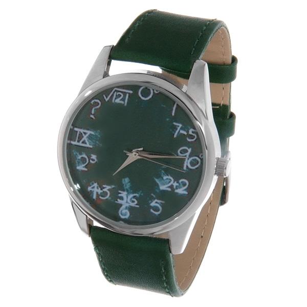 Часы Mitya Veselkov Школьная доска (зеленый) Арт. Color-01Color-01
