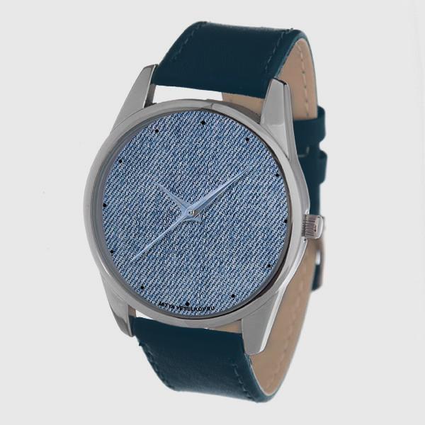 Часы Mitya Veselkov Джинсовый принт (темно-синий) Color-113Color-113