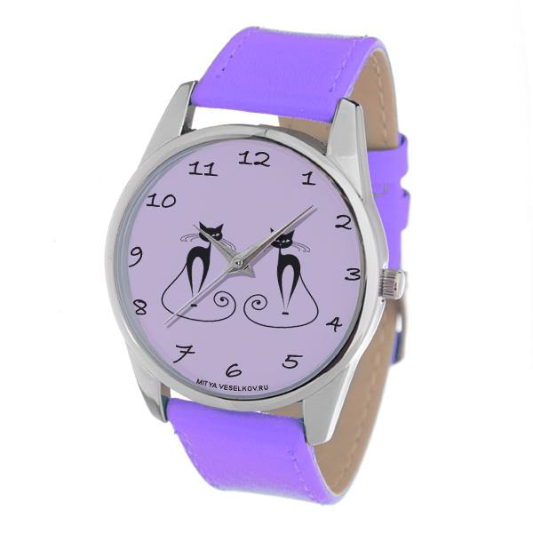 Часы Mitya Veselkov Изящные кошки (фиолетовый) Color-117Color-117