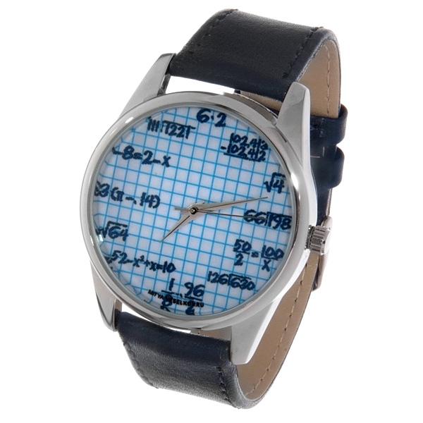Часы Mitya Veselkov Формулы на клетке (темно-синий) Арт. Color-19Color-19