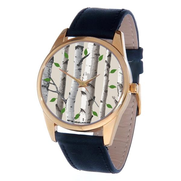 Часы Mitya Veselkov Березы. Gold-45Gold-45Элегантные часы Mitya Veselkov Березы выполнены из нержавеющей стали, натуральной кожи и минерального стекла. Часы оснащены кварцевым механизмом с тремя стрелками, полированным корпусом, устойчивым к царапинам минеральным стеклом. Изделие дополнено кожаным браслетом с пряжкой, которая позволит легко снимать и надевать часы. Часы упакованы в оригинальный фирменный стаканчик Mitya Veselkov.