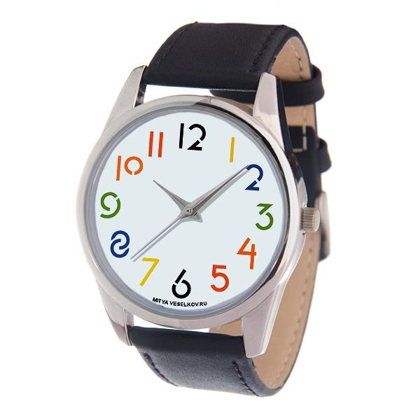 Часы Mitya Veselkov Разноцветные цифры MV-220MV-220
