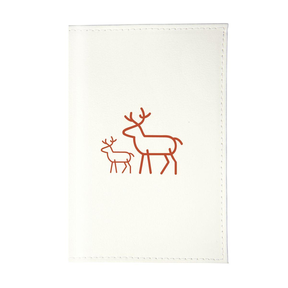 Обложка для паспорта Олень с олененком Арт. OK375OK375