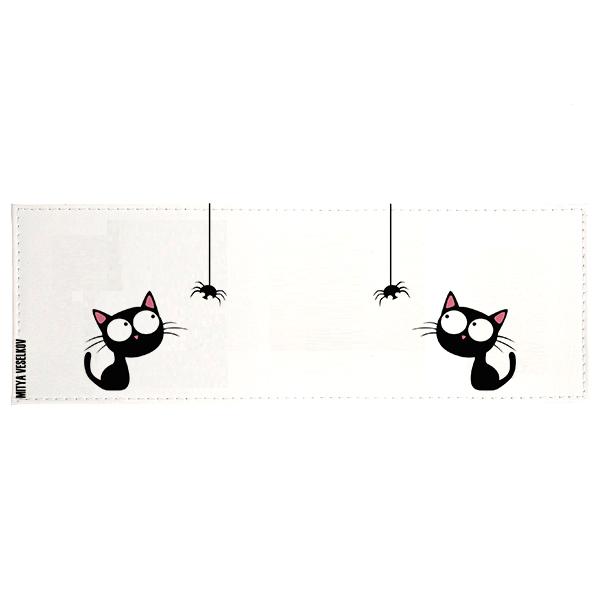 Обложка для студенческого Кошка и паучок Арт. STUDAK78STUDAK78