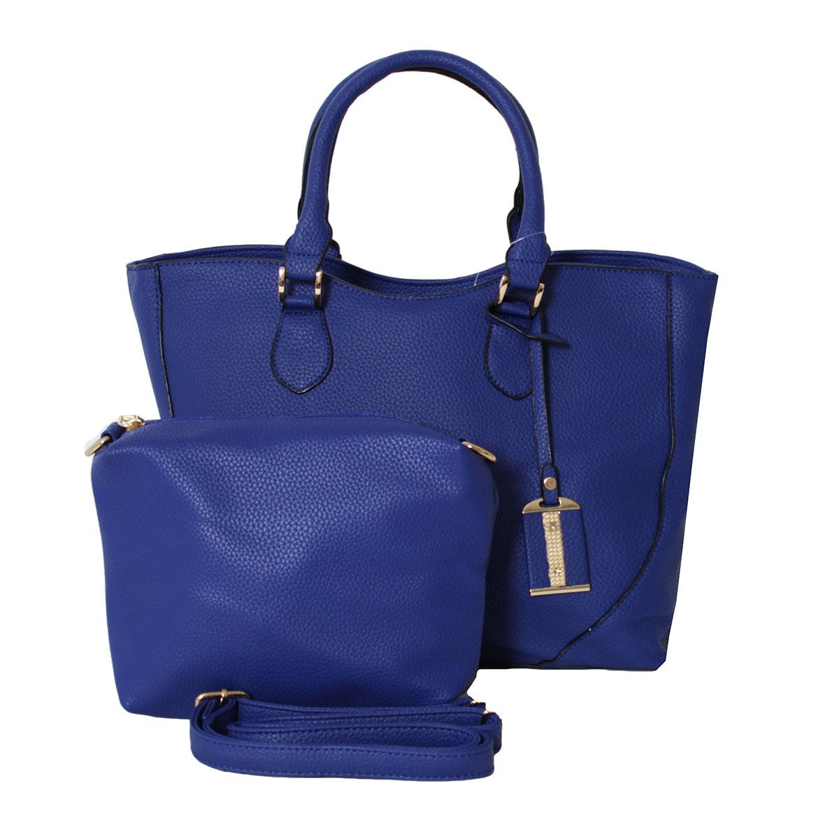 Сумка женский Flioraj, цвет: синий. 0005213800052138В комплекте сумка и косметичка. Сумка (35 х 13 х 26, высота ручки - 18) закрывается на молнию, внутри два отделения, два кармана на молнии, два открытых кармана, снаружи один карман на молнии. Косметичка (19 х 6 х 15) закрывается на молнию, внутри одно от