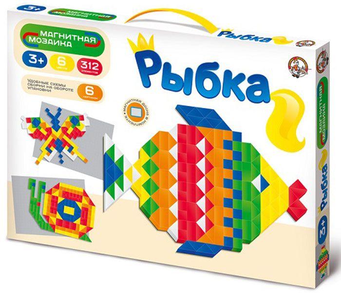 Десятое королевство Мозаика Рыбка01652Набор мягких магнитных деталей из 312 элементов, разнообразных геометрических форм (треугольник - 120 шт, квадрат - 126 шт, прямоугольник - 66 шт) и 6 цветов на магнитной доске, предоставляет неограниченный простор для творчества, превращая мозаику в плоский конструктор. Удобные схемы сборки представлены на обороте коробки. Собирая мозаику, ребенок развивает художественное воображение и творческие навыки, учится усидчивости, тренирует мелкую моторику рук.