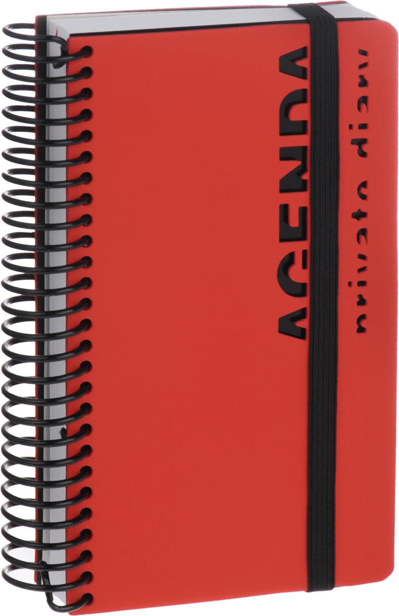 Bruno Visconti Ежедневник Agenda недатированный 136 листов цвет красный