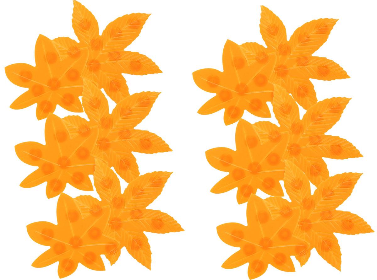 Valiant Мини-коврик для ванной комнаты Листочки на присосках 6 штK6-22Мини-коврик для ванной комнаты Valiant Листочки - это модный и экономичный способ сделать вашу ванную комнату более уютной, красивой и безопасной. В наборе представлены 6 мини-ковриков в виде оранжевых листочков. Коврики прочно крепятся на любую гладкую поверхность с помощью присосок. Расположите коврик там, где вам необходимо яркое цветовое пятно и надежная противоскользящая опора - на поверхности ванной, на кафельной стене или стенке душевой кабины, на полу - как дополнение вашего коврика стандартного размера. Мини-коврики Valiant незаменимы при купании маленького ребенка: он не поскользнется и не упадет, держась за мягкую и приятную на ощупь рифленую поверхность коврика. Рекомендации по уходу: после использования тщательно смойте остатки мыла или других косметических средств с коврика.
