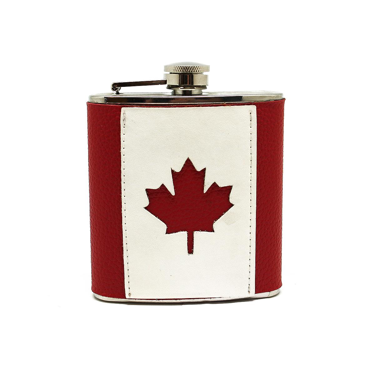 Фляга Экспедиция Канада, цвет: красный, 0,17 лeflgs-01Прекрасный подарок - Кожаная фляжка Канада. Это необычная подарочная фляга, отображающая характер, подчеркивающая стиль. Нержавеющая сталь, натуральная кожа – классическое сочетание на все времена. Флагофляга практична: положите ее в карман, сумку или рюкзак - она не займет много места, и порадует глаз, в любой ситуации. Определенно, эта фляга для любителей стильных и практичных вещей. Поспешите купить фляжку с флагом Канады - коллекция лимитирована. Характеристики: Материал: нержавеющая сталь; Отделка: натуральная кожа; Объем: 0.17 л; Размер: 95мм х 115мм х 30мм