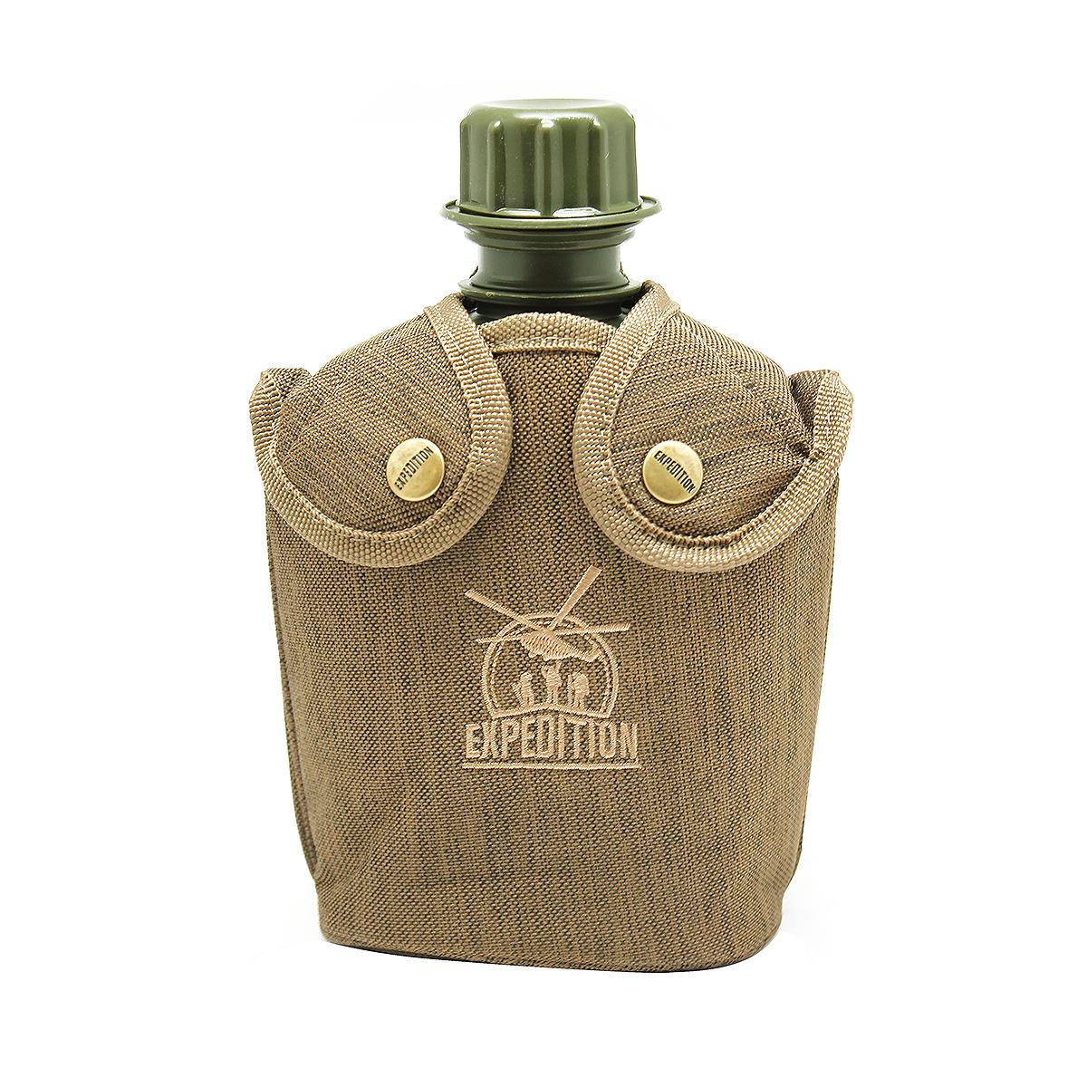 Фляга для напитков Экспедиция, цвет: коричневый, 1 лEHF100PEФляга комплектуется чехлом на меху, что придает дополнительные теплоизоляционные свойства.