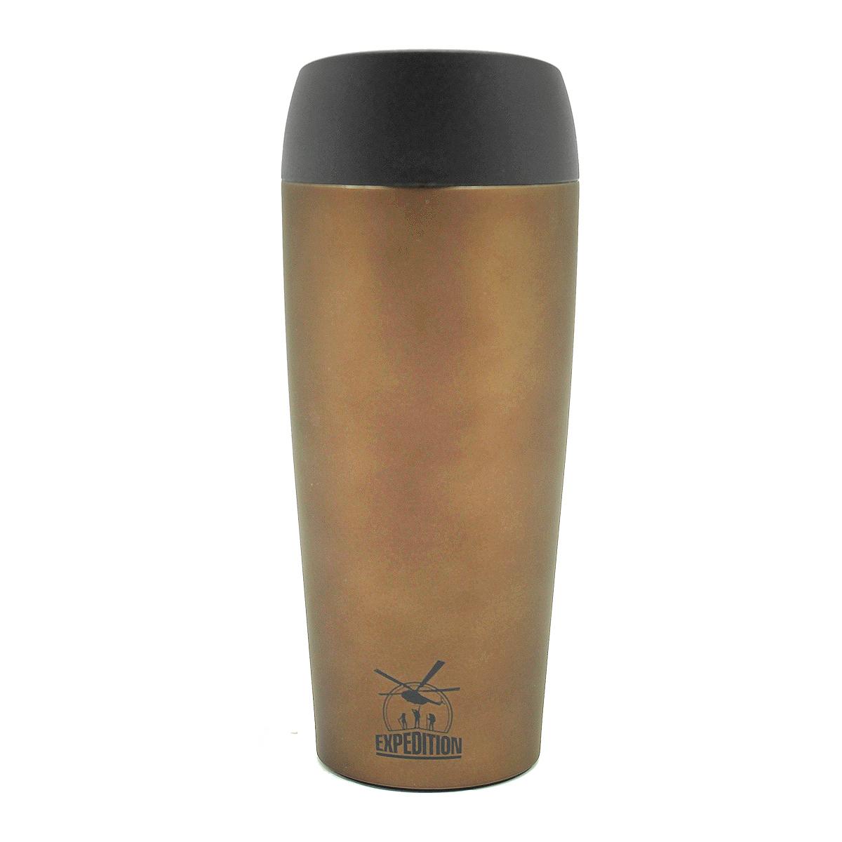 """Термостакан Экспедиция """"Чайway Арабика"""", цвет: коричневый, 450 мл"""