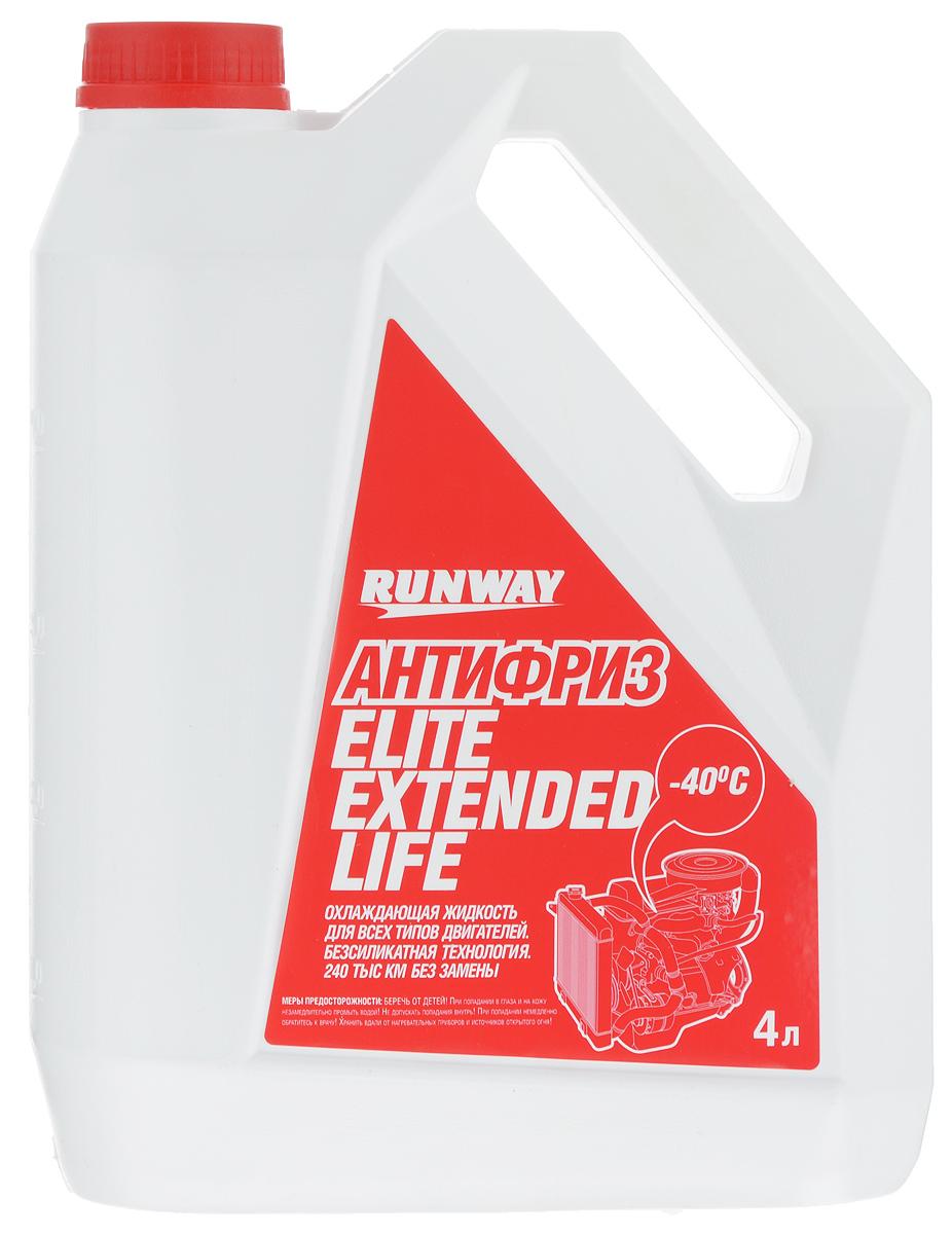 Антифриз Runway Elite Extended Life, цвет: красный, 4 лRW4064Антифриз Runway Elite Extended Life изготовлен с использованием новейших ингибиторных присадок (карбоксилатная технология OAT (Organic Acid Technology (безсиликатная технология)), предотвращающих коррозию системы охлаждения и продлевающих срок работы антифриза (без ухудшения эксплуатационных свойств) до 240000 км пробега автомобиля или 5 лет. Не содержит фосфатов, боратов, нитратов или силикатов. Предохраняет резиновые детали системы охлаждения и сальники помпы от высыхания и растрескивания, содержит пакет антиокислительных и антипенных присадок. Предохраняет металлические части системы охлаждения от кавитационной эрозии и воздействия высоких температур. Обеспечивает диапазон рабочих температур двигателя от -40°С до +135°С. Товар сертифицирован.