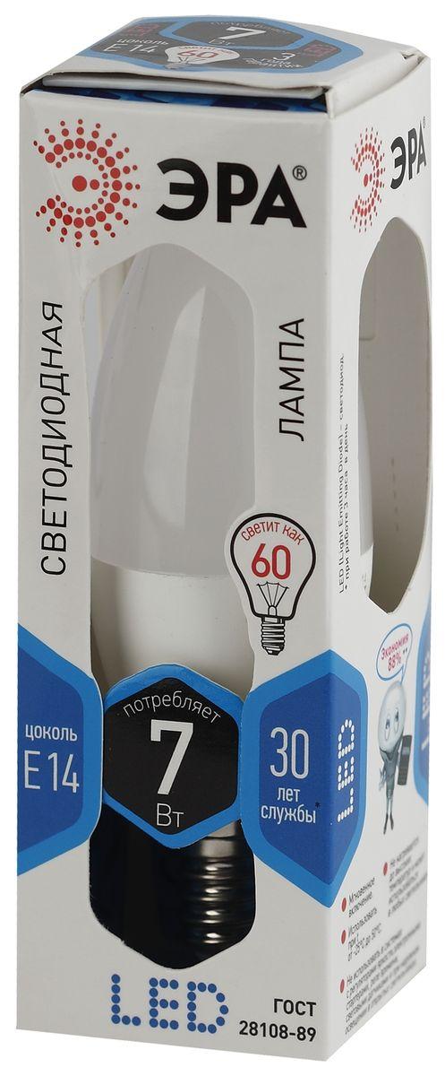Лампа светодиодная ЭРА, LED smd B35-7w-840-E14 лампа светодиодная эра f led b35 5w 840 e14