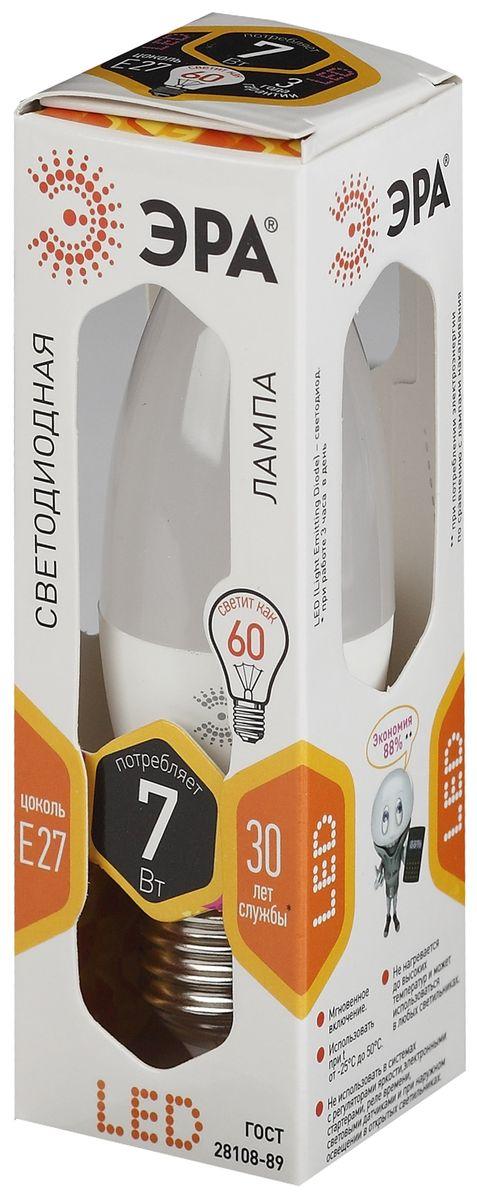 Лампа светодиодная ЭРА Clear, цоколь E27, 170-265V, 7W, 2700К5055945503050Светодиодная лампа ЭРА Clear является самым перспективным источником света. Основным преимуществом данного источника света является длительный срок службы и очень низкое энергопотребление, так, например, по сравнению с обычной лампой накаливания светодиодная лампа служит в среднем в 50 раз дольше и потребляет в 10-15 раз меньше электроэнергии. При этом светодиодная лампа практически не подвержена механическому воздействию из-за прочной конструкции и позволяет получить любой цвет светового потока, что, несомненно, расширяет возможности применения и позволяет создавать новые решения в области освещения. Светодиодная лампа серии Clear предназначена для хрустальных люстр. При их использовании хрусталь играет под яркими лучами. Угол рассеивания светового потока 270 градусов. Совместима с выключателями с подсветкой.