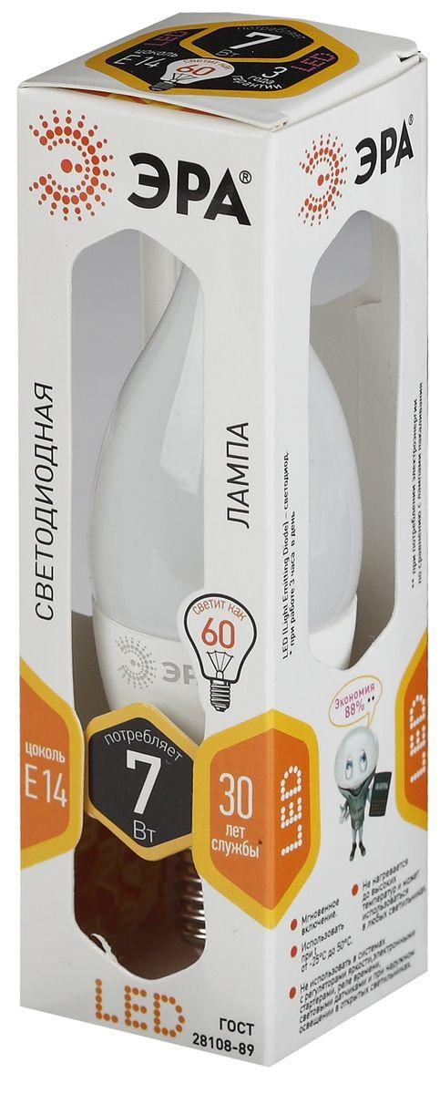 Лампа светодиодная ЭРА, цоколь E14, 170-265V, 7W, 2700К. 50559455030745055945503074Светодиодная лампа ЭРА является самым перспективным источником света. Основным преимуществом данного источника света является длительный срок службы и очень низкое энергопотребление, так, например, по сравнению с обычной лампой накаливания светодиодная лампа служит в среднем в 50 раз дольше и потребляет в 10-15 раз меньше электроэнергии. При этом светодиодная лампа практически не подвержена механическому воздействию из-за прочной конструкции и позволяет получить любой цвет светового потока, что, несомненно, расширяет возможности применения и позволяет создавать новые решения в области освещения. Особенности лампы: Мгновенное включение. Использовать при температуре от -25°С до +50°С. Не нагревается до высоких температур и может использоваться в любых светильниках. Не использовать в системах с регуляторами яркости, электронными стартерами, реле времени, световыми датчиками и при наружном освещении в открытых светильниках.