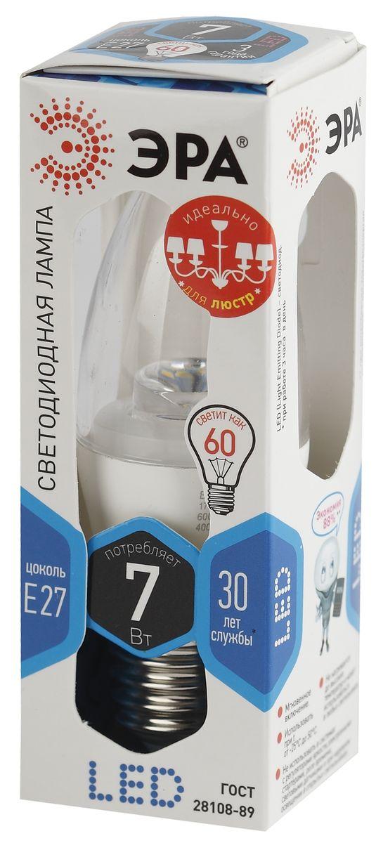 Лампа светодиодная ЭРА, LED smd B35-7w-840-E27-Clear5055945518399