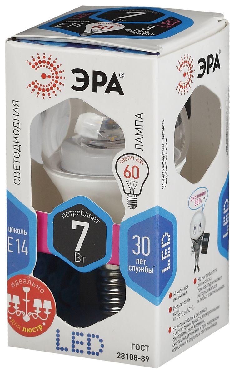 Лампа светодиодная ЭРА, LED smd P45-7w-840-E14-Clear5055945518436