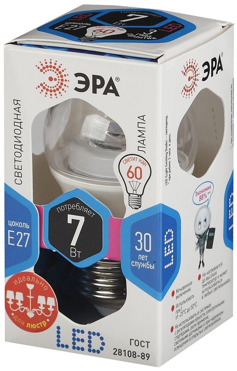 Лампа светодиодная ЭРА, LED smd P45-7w-840-E27-Clear5055945518450