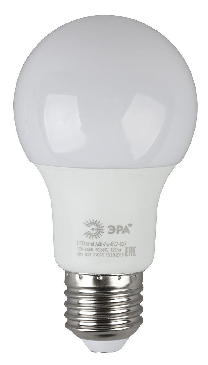 Лампа светодиодная ЭРА, LED smd A60-7w-840-E275055945538014