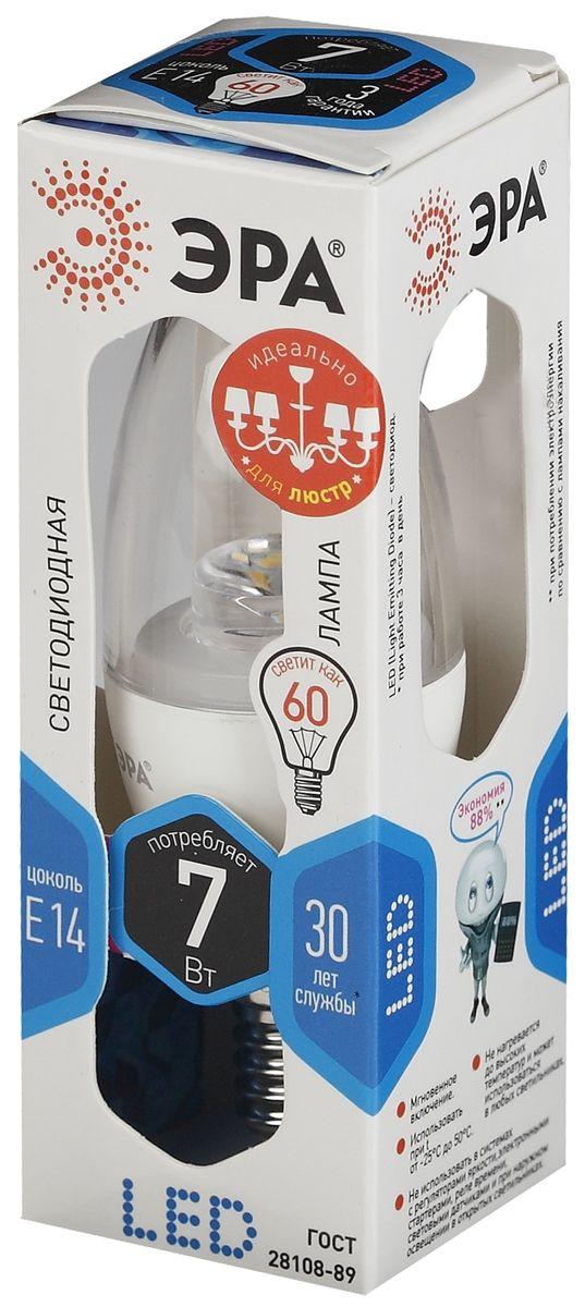 Лампа светодиодная ЭРА, LED smd B35-7w-840-E14-Clear.5055945541397