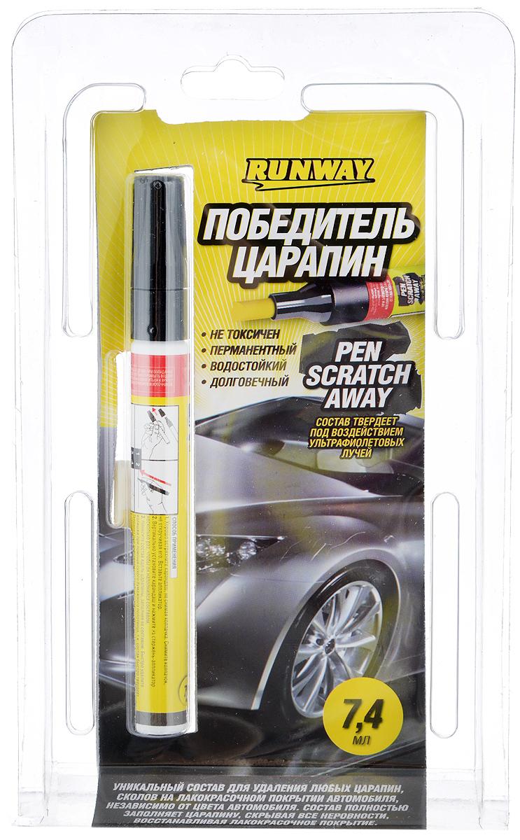 Победитель царапин Runway, 7,4 млRW6130Победитель царапин Runway – это уникальный состав для удаления любых царапин, сколов на лакокрасочном покрытии автомобиля, независимо от цвета автомобиля. Состав полностью заполняет царапину, скрывая все неровности, восстанавливая лакокрасочное покрытие автомобиля. Не токсичный, без запаха, водостойкий, долговечный, безопасен для лакокрасочного покрытия автомобиля. Товар сертифицирован.
