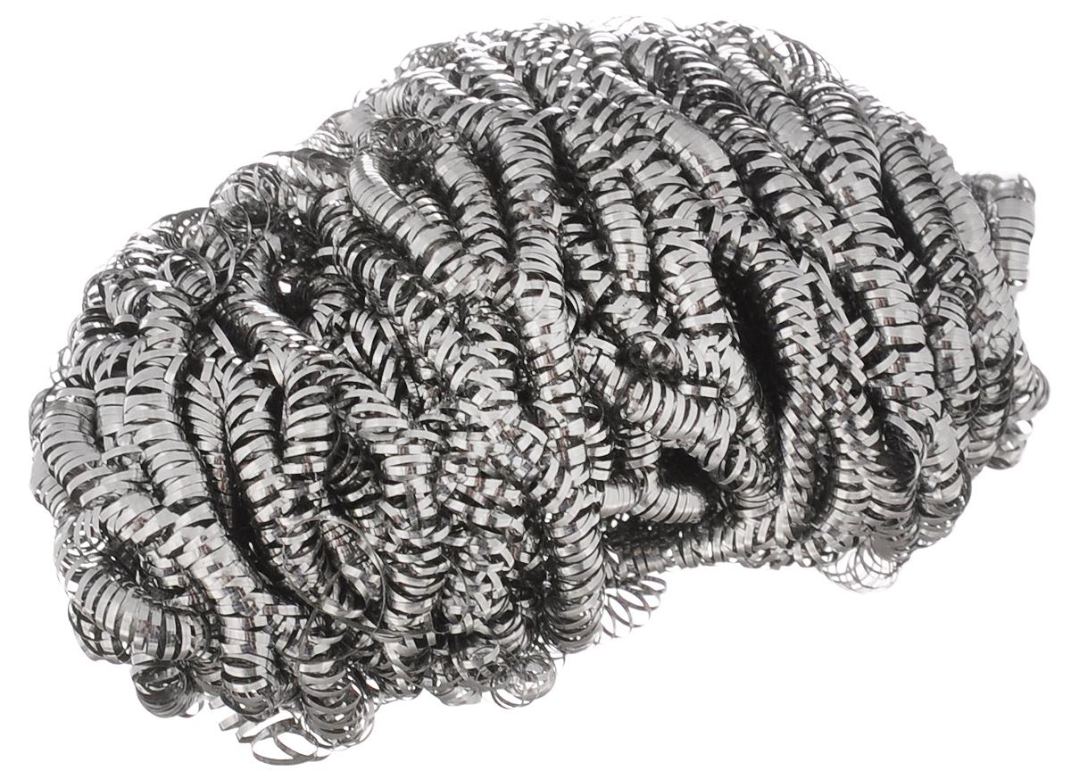 Мочалка металлическая Чистюля. ММ008ММ008Мочалка металлическая Чистюля, изготовленная из нержавеющей стали, имеет маленький размер и облегченный вес. Благодаря спиральному плетению мочалка служит дольше и не прокалывает перчатки. Применяется для легкой и быстрой очистки сложных плотных загрязнений с металла и поверхностей, не боящихся царапин: стальная и чугунная посуда, противни, грили, духовки, плиты, кафель, стекло. Не рекомендуется использовать для посуды с антипригарным покрытием. Мочалка отлично удаляет пригар и старый жир. Незаменимый аксессуар для любой хозяйки.